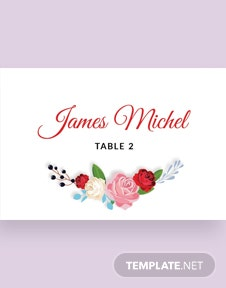 Free Escort Wedding Place Card Template