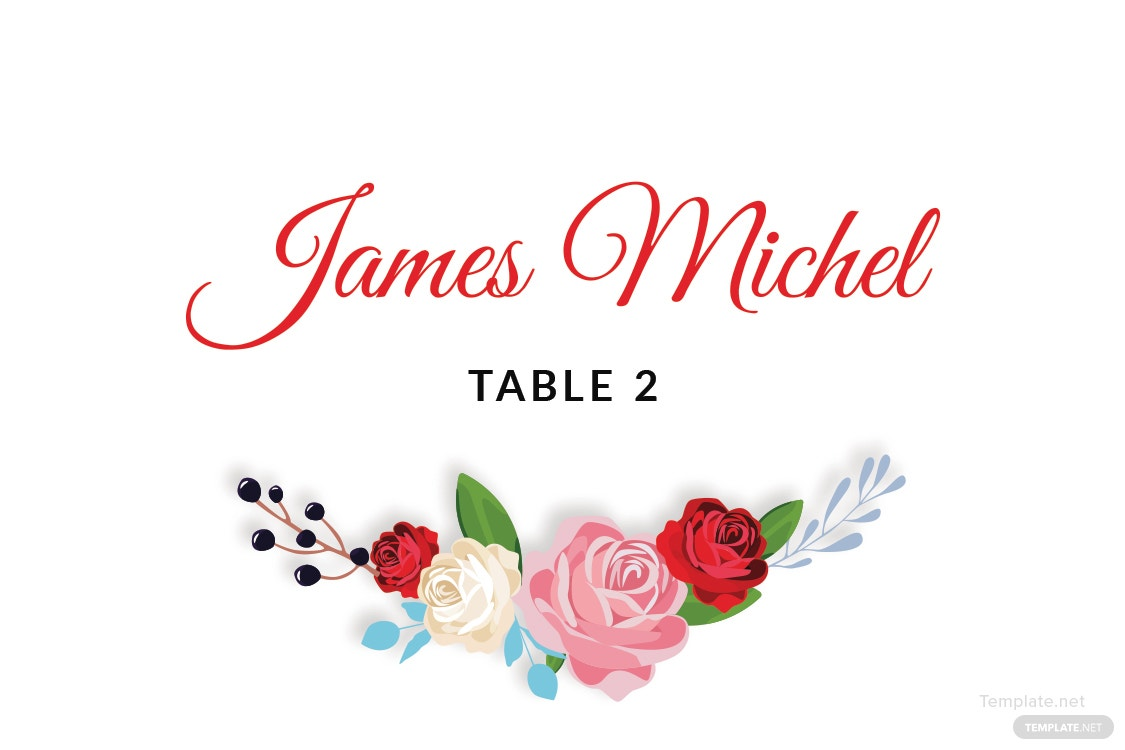 Free Escort Wedding Place Card Template in Adobe Photoshop