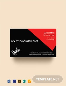Free Barbershop Business Card Template