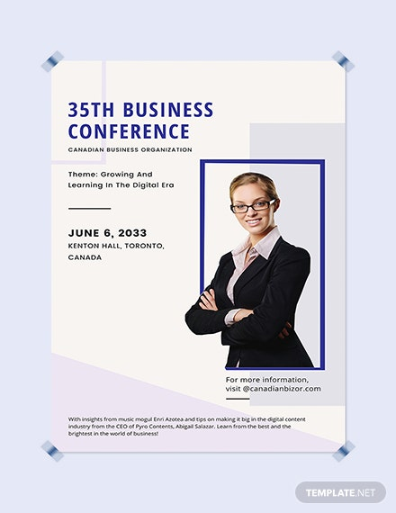 Business Conference Poster Download