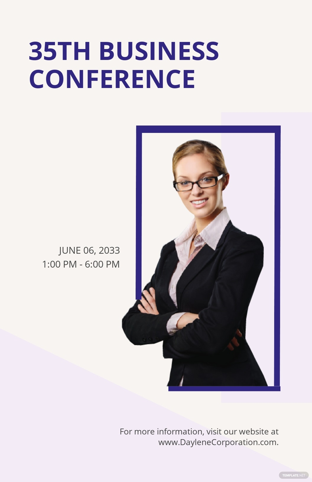 Business Conference Poster Template [Free JPG] - Illustrator, Apple Pages, PSD