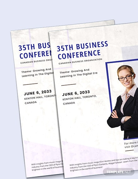 Sample Business Conference Poster