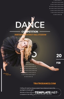 Dance Contest Poster Template