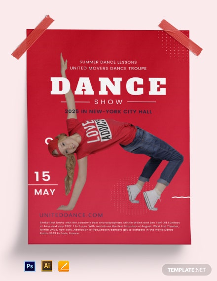 Dance poster template