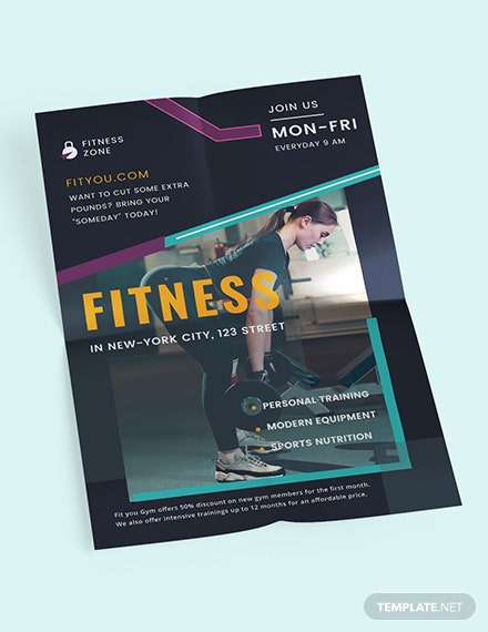 Fitness Motivational Poster Template - Word | PSD | InDesign