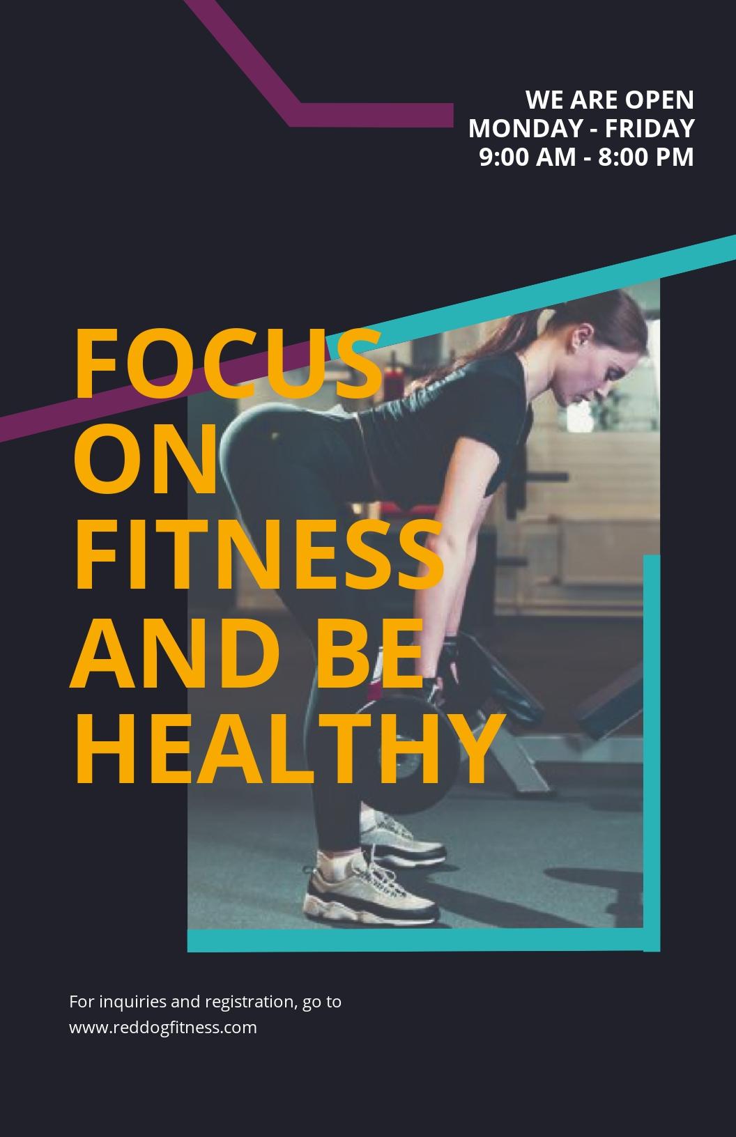 Fitness Motivational Poster Template.jpe