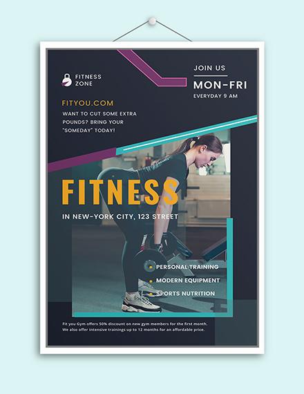 Sample Fitness Motivational Poster