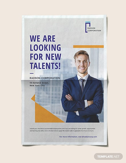 Job Advertisement Poster Download