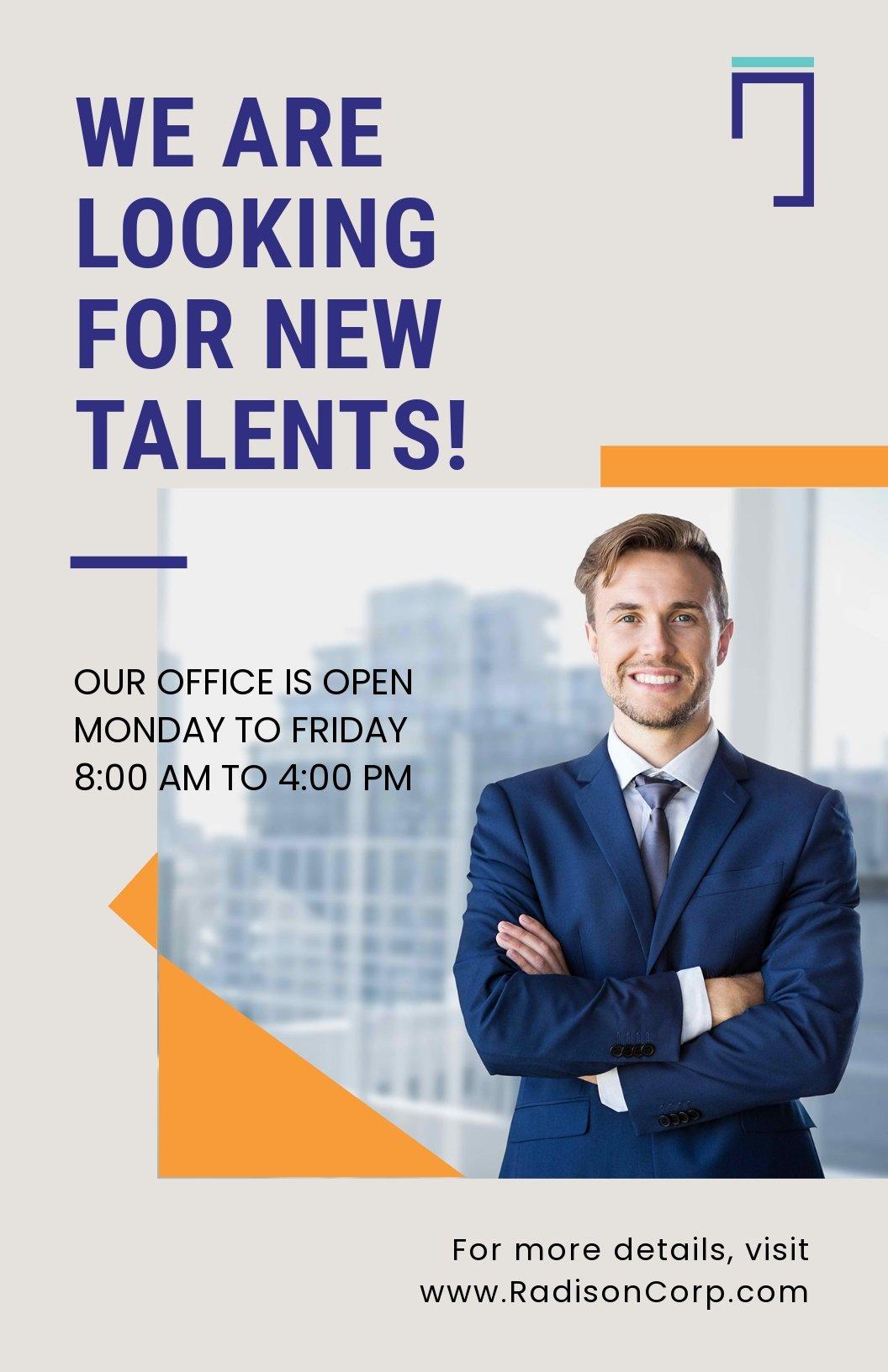 Job Advertisement Poster Template