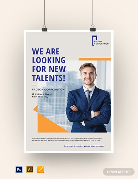 Job Advertisement Poster Template