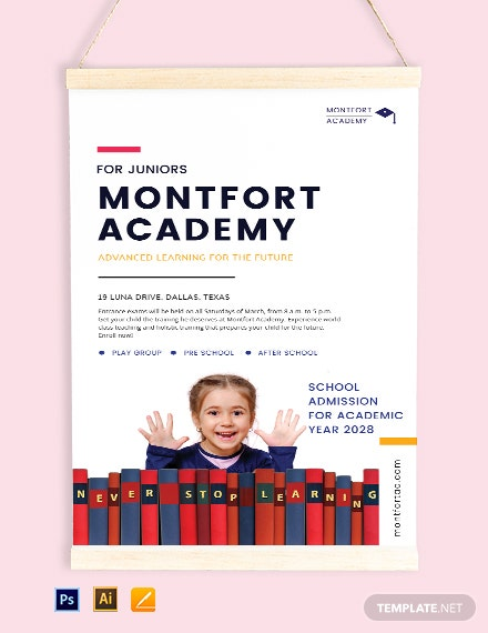 School Advertisement Poster Template