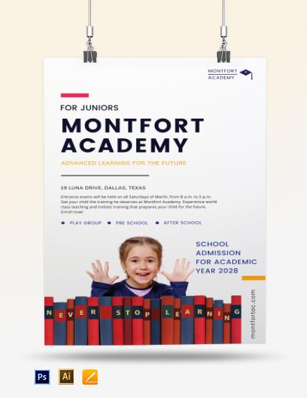 School Advertisement Poster Template