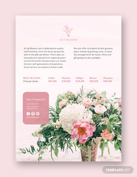 flower shop flyer template