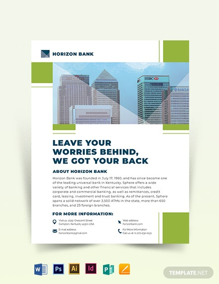 banking flyer