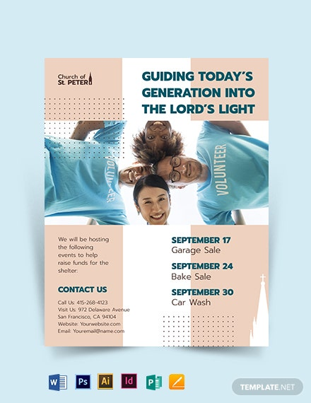 church fundraiser flyer template 1