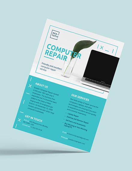 Computer Repair Flyer Download