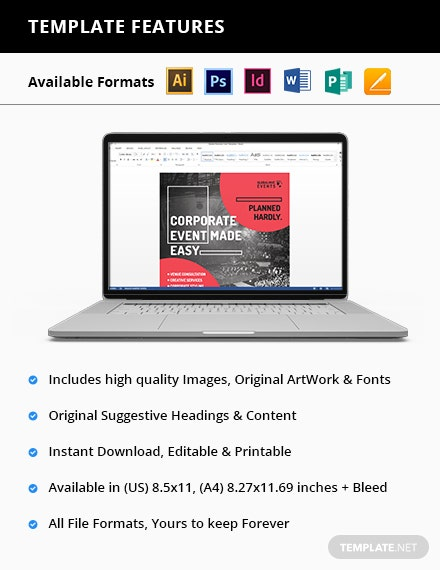 Corporate Event Flyer Printable