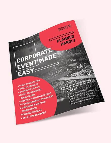 Sample Corporate Event Flyer