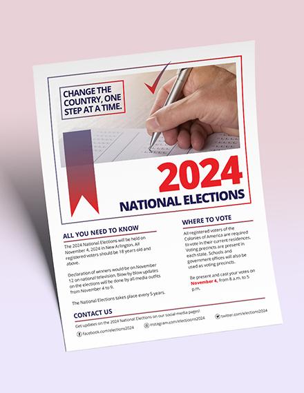 Election Flyer Download