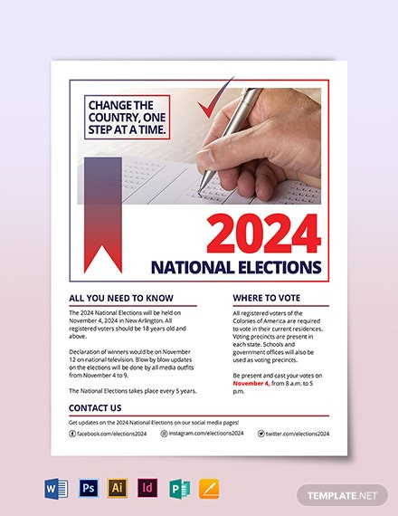 election flyer template 1