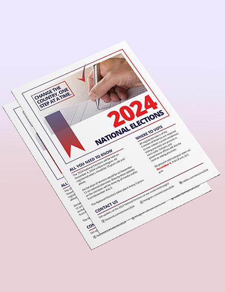 Sample Election Flyer