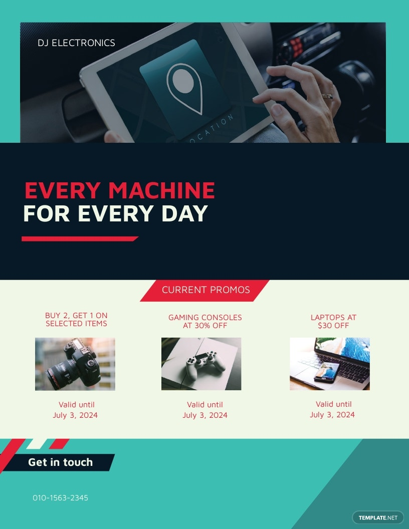 Electronic Company Flyer Template