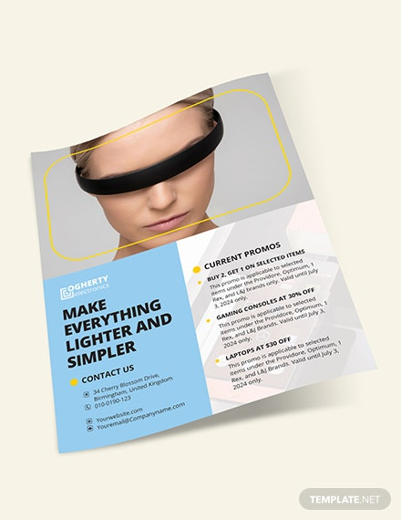 Sample Electronic Product Flyer