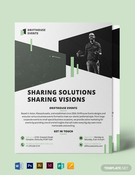 event conference flyer template 1
