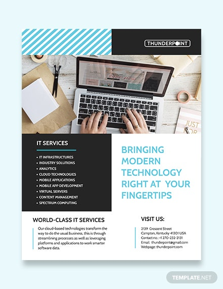 IT Services Flyer Template