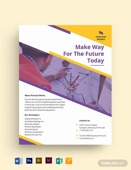 Manufacturing Engineering Flyer Template