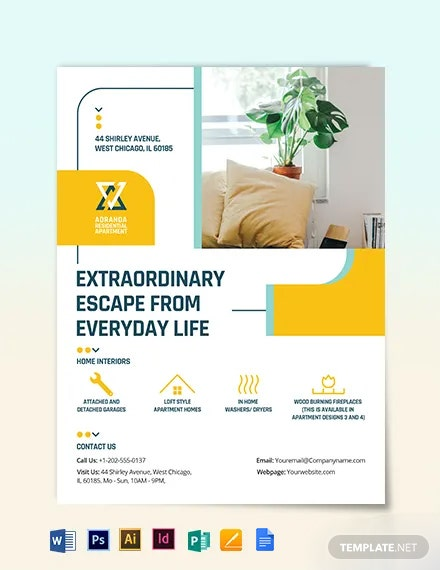 Residential Apartment Flyer Template