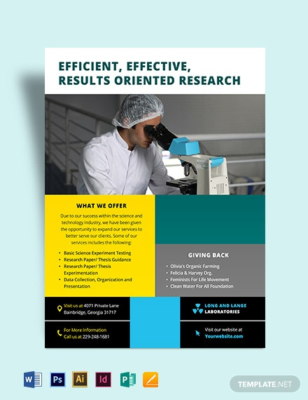 Science Flyer Template