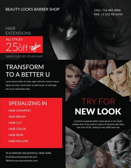 Free Barbershop Flyer Template