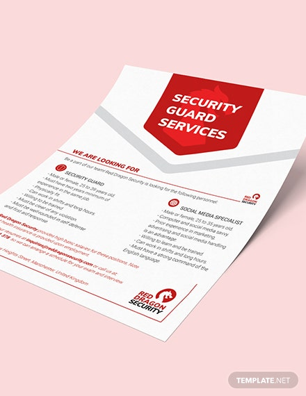 Sample Security Guard Services Flyer