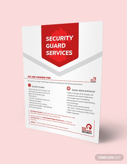 Security Guard Services Flyer Download