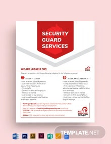 Security Guard Services Flyer Template