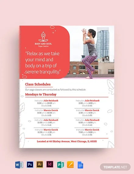 Yoga Instructor Flyer Template