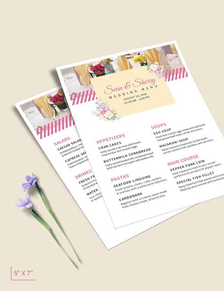 Banquet Wedding Menu Download