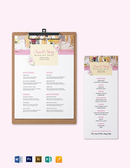 Banquet Wedding Menu Template
