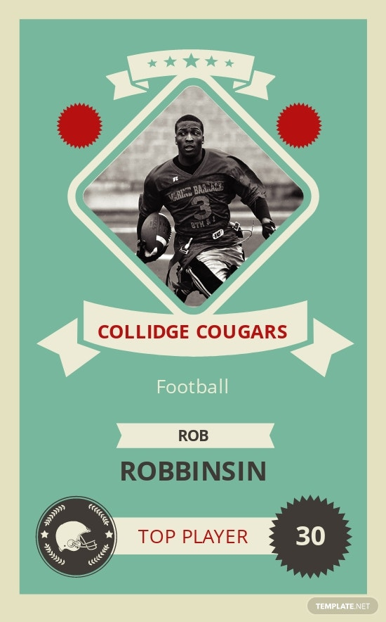 Free Football Trading Card Template