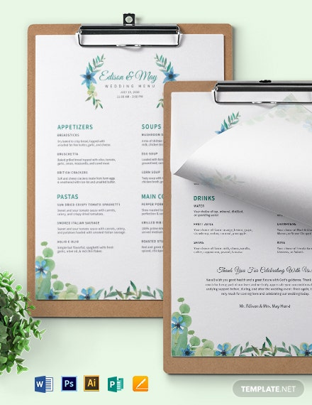Downloadable Cafe Coffee shop Menu Template