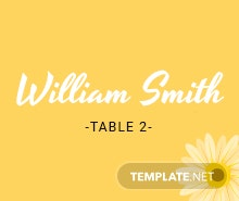 Free Multi Place Wedding Name Card Template