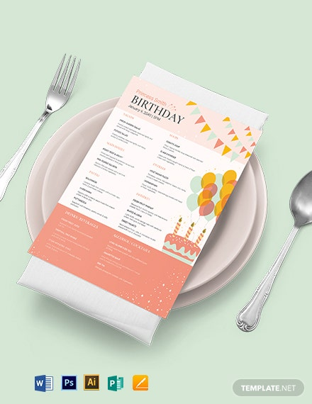 downloadable birthday menu template 1
