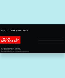 Free Barbershop Envelope Template