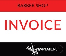 Free Barbershop Invoice Template