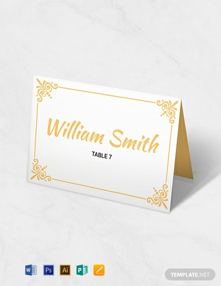image relating to Free Printable Wedding Cards titled Cost-free Printable Marriage ceremony Desk Card Template - Term PSD