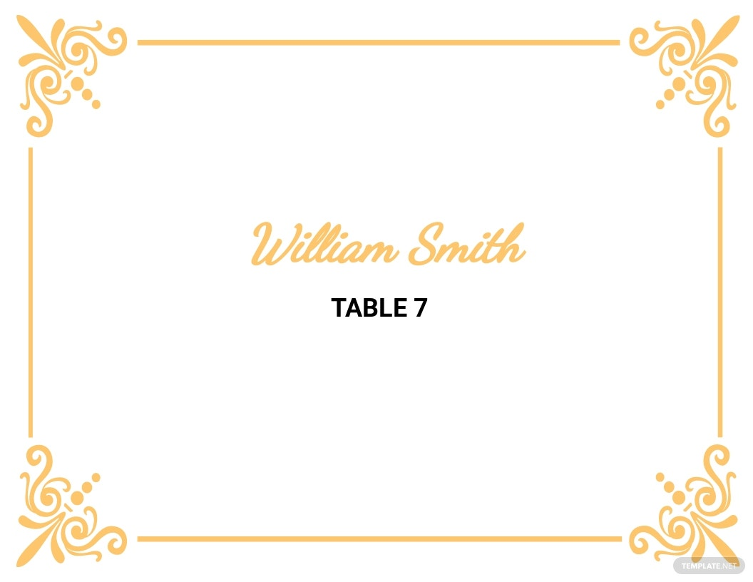 8 Free Place Card Templates Microsoft Word Doc Template Net