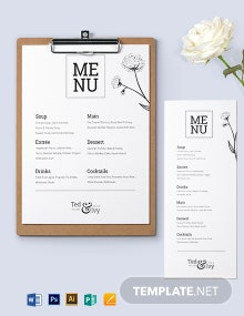 White Wedding Menu Template