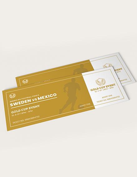 Sample Golden Event Ticket
