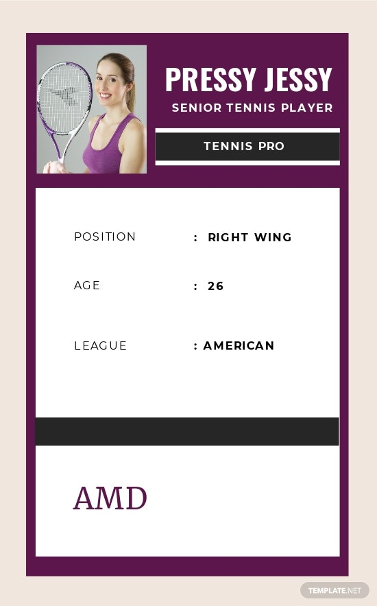 Free Senior Tennis Trading Card Template 1.jpe